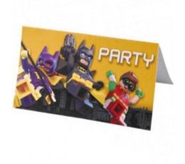 """Kvietimai """"Lego Batman"""" (8 vnt.)"""