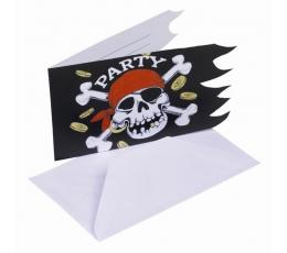 """Kvietimai """"Piratai"""" (6 vnt.)"""