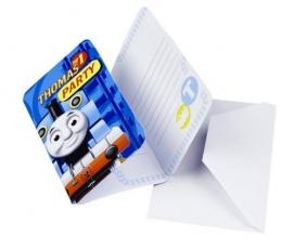 """Kvietimai """"Traukinukas Tomas"""" (6 vnt.)"""