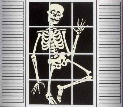 "Lango dekoracija ""Šmėkla-skeletas"""
