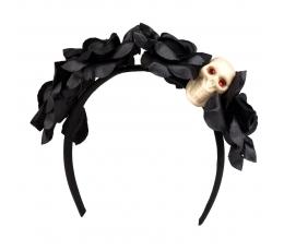 """Lankelis """"Kaukolė juodose gėlėse"""""""