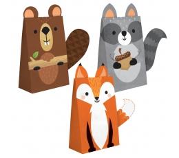 """Lauktuvių maišeliai-dekoracijos """"Miško žvėreliai"""" (8 vnt.)"""
