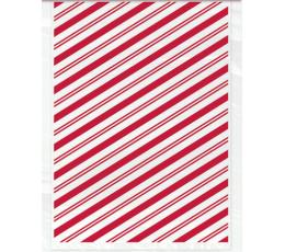 Lauktuvių maišeliai, raudoni dryžuoti (20 vnt.)