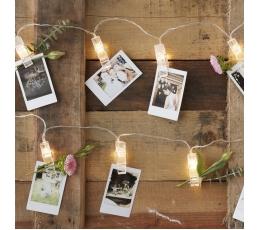 LED segtukų girlianda nuotraukoms (3 m)
