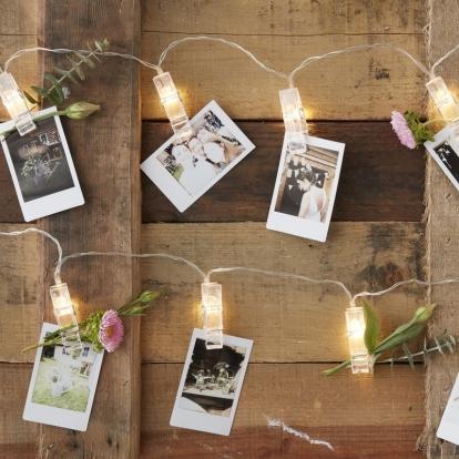 LED segtukų girlianda nuotraukoms (2 m)