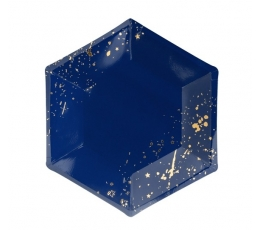 Lėkštės, mėlynos su auksiniais raštais (6vnt.)