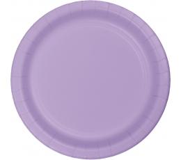 Lėkštutės, alyvinės (8 vnt./22 cm)