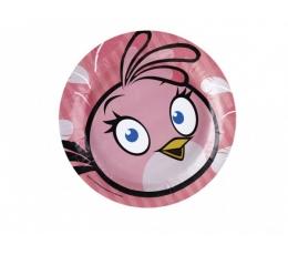 """Lėkštutės """"Angry birds"""", rožinės (8vnt./23 cm.)"""