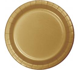 Lėkštutės, auksinės (24 vnt./17 cm)
