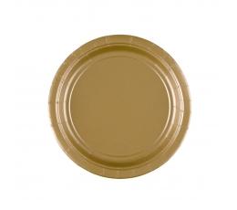 Lėkštutės, auksinės (8 vnt./17 cm)