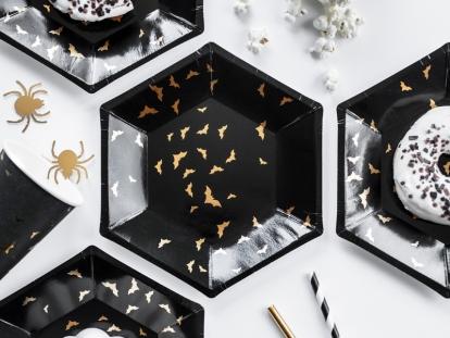 """Lėkštutės """"Auksiniai šikšnosparniai"""" (6 vnt./20 cm)"""