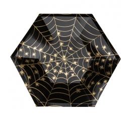 """Lėkštutės """"Auksinis voratinklis"""" (8 vnt./23 cm)"""