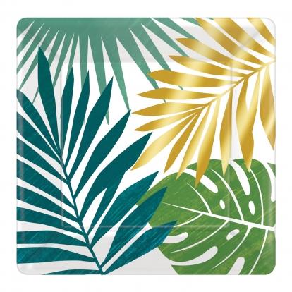 """Lėkštutės """"Aukso palmė"""" (8 vnt./17 cm)"""