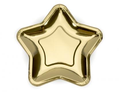 """Lėkštutės """"Aukso žvaigždė"""", forminės (6 vnt./23 cm)"""