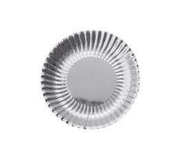 Lėkštutės, banguotos sidabrinės (10 vnt./18 cm)