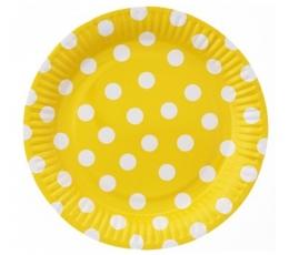 """Lėkštutės """"Burbuliukai"""", geltonos (6 vnt./23 cm)"""