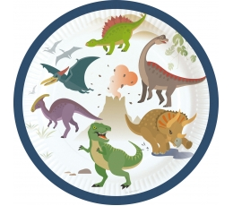 "Lėkštutės ""Dinozaurai"" (8 vnt./18 cm)"