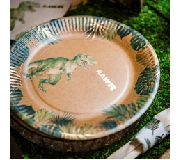 """Lėkštutės """"Dinozaurai džiunglėse"""" (8 vnt./23 cm)"""