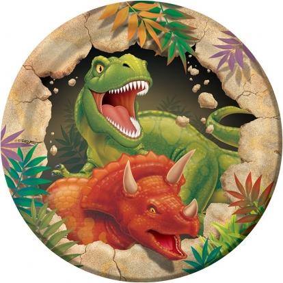 """Lėkštutės """"Dinozauras Dinas"""" (8 vnt./18 cm)"""