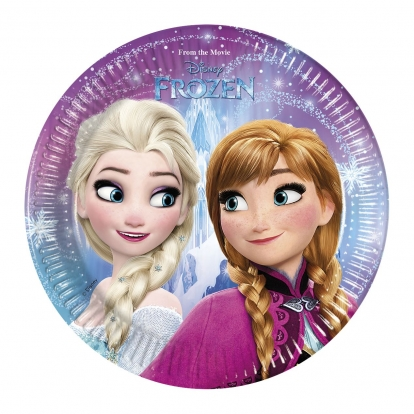 "Lėkštutės ""Frozen"" (8 vnt./20 cm)"