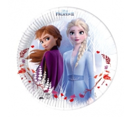 "Lėkštutės ""Frozen"", kompostuojamos (8 vnt./20 cm)"