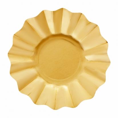 Lėkštutės-gėlės, auksinės (8 vnt./27 cm)