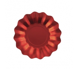 Lėkštutės-gėlės, raudonos blizgios (8 vnt./27 cm)