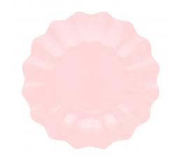 Lėkštutės-gėlės, rausvos (8 vnt./21 cm)-eko