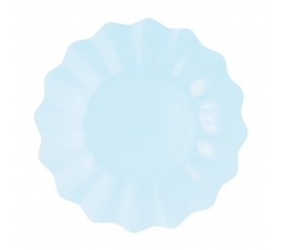 Lėkštutės-gėlės, žydros (8 vnt./21 cm)- eko