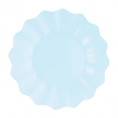 Lėkštutės-gėlės, žydros (8 vnt./27 cm)-eko