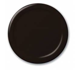 Lėkštutės, juodos (24 vnt./18 cm)