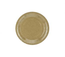 Lėkštutės, kraftinės (6 vnt./18 cm)