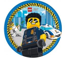 """Lėkštutės """"Lego City"""" (8 vnt./23 cm)"""