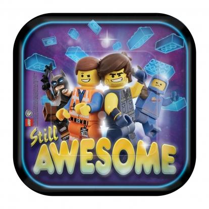 """Lėkštutės """"Lego Movie 2"""" (8 vnt./18 cm)"""