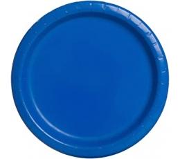Lėkštutės, skaisčiai mėlynos (8 vnt./22 cm)
