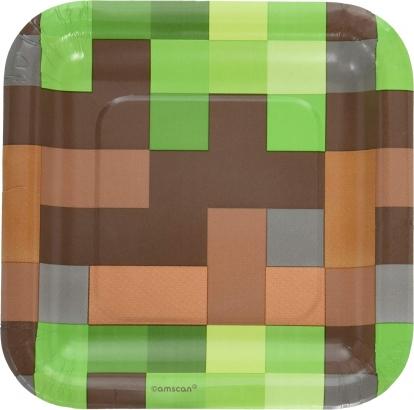"Lėkštutės ""Minecraft"" (8 vnt./17 cm)"