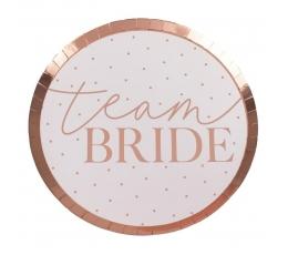 """Lėkštutės-padėkliukai """"Team Bride"""" (8 vnt./24 cm)"""