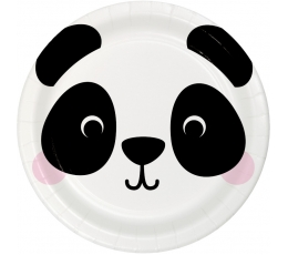 "Lėkštutės ""Panda"" (8 vnt./17 cm)"