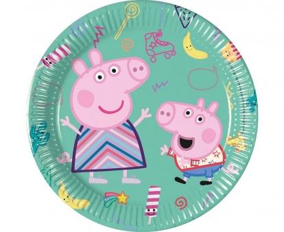"""Lėkštutės """"Peppa Pig"""" (8 vnt./20 cm)"""