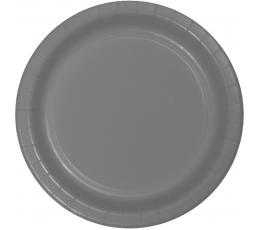Lėkštutės, pilkos matinės (24 vnt./18 cm)
