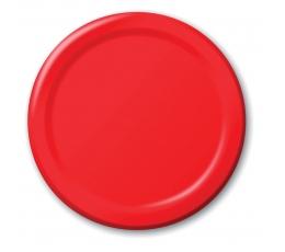 Lėkštutės, raudonos (8 vnt./17 cm)