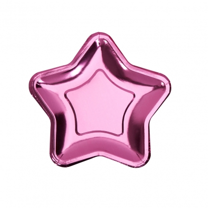 """Lėkštutės """"Rožinė žvaigždė"""", forminės (8 vnt./18 cm)"""