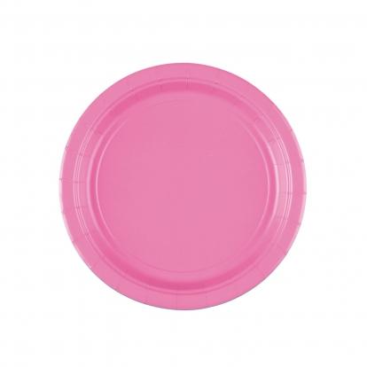Lėkštutės, rožinės (8 vnt./17 cm)