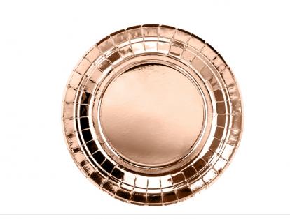 Lėkštutės, rožinio aukso (6 vnt./18 cm)