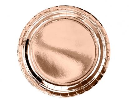 Lėkštutės, rožinio aukso (6 vnt./23 cm)