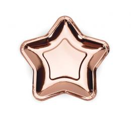 """Lėkštutės """"Rožinio aukso žvaigždė"""", forminės (6 vnt./18 cm)"""