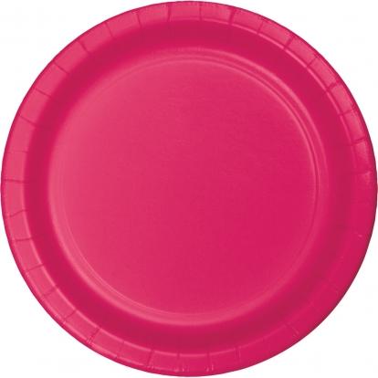 Lėkštutės, ryškiai rožinės (24 vnt./17 cm)