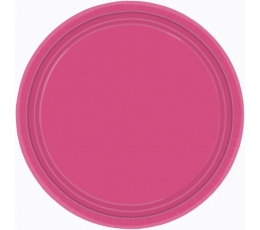 Lėkštutės, ryškiai rožinės (8 vnt./17 cm)