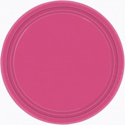 Lėkštutės, ryškiai rožinės (8 vnt./22 cm)