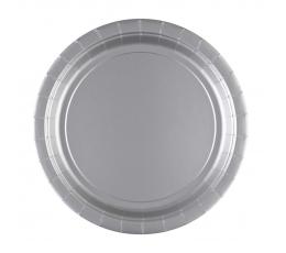 Lėkštutės, sidabrinės (8 vnt./22 cm)